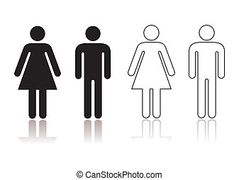 Restroom symbol - Black and white toilet restroom symbol...
