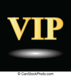 Vip symbol - Unique vip symbol on a black background
