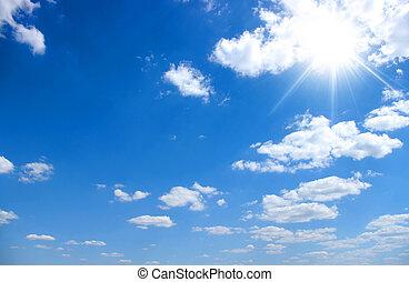 azul, céu, fundo