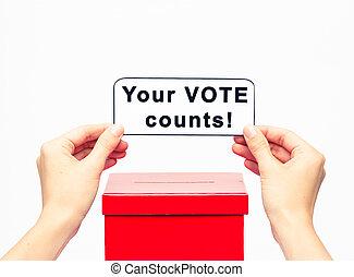 election concept with ballot box