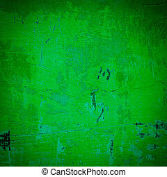 Green damaged plaster background