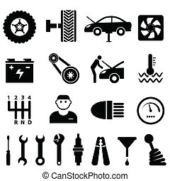 Car maintenance and repair icons - Car maintenance and...