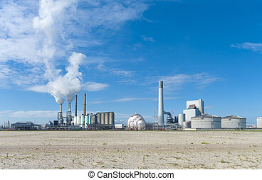 power plant - coal-fired power plant on the Maasvlakte, the...