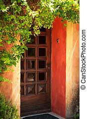 Colorful Provence house entrance door - Colorful Provence...