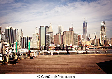 New York city skyline - New York City Manhattan skyline with...