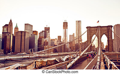 Brooklyn Bridge in New York - New York Brooklyn Bridge...