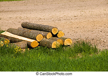 the cut trees - the combined cut trees which were about a...