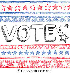 Vote Presidential Election Doodles - Vote Presidential...