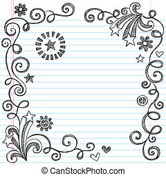 Sketchy Doodle School Page Border - Back to School Sketchy...