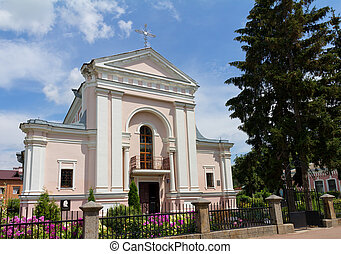 Roman Catholic Church of St Barbara in Berdychiv, Ukraine -...