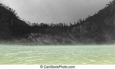 Kawah putih crater in West Java - Timelapse of Kawah putih...