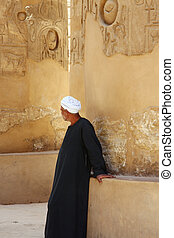 Luxor temple with Arab - A photography of an old historic...