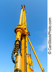 Construction drilling rig The photo on the background of...