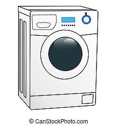 Washing machine - Color illustration of the washing machine...
