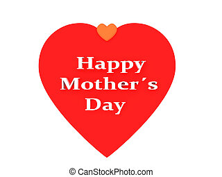 happy mothers day, cute background. 3d illustration