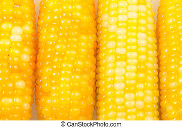 Corn side by side - Close up of yellow corn side by side