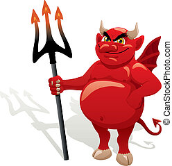 Devil - Cartoon Devil. No transparency used. Basic (linear)...