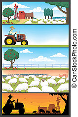 Farm Landscapes - 5 farm landscapes. Very suitable for...