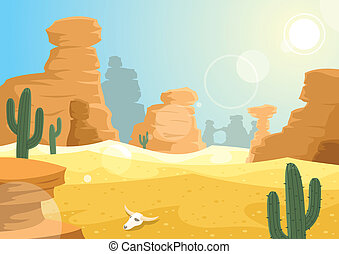 Desert landscape. 