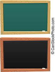Blackboard - Cartoon blackboard colored in 2 different ways...