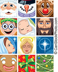 Christmas Avatars - Set of 12 Christmas avatars. No...