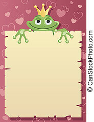 Frog Prince Letter - Frog Prince is holding love letter to...