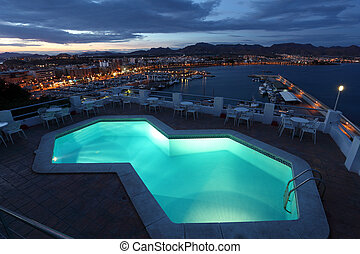 Puerto de Mazarron in the evening Region Murcia, Spain
