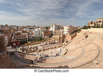 Roman amphitheater in Cartagena, Region Murcia, Spain