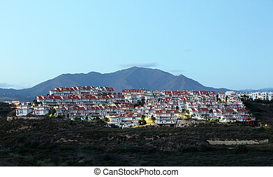 Residential buildings at the Costa del Sol in Andalusia, Southern Spain