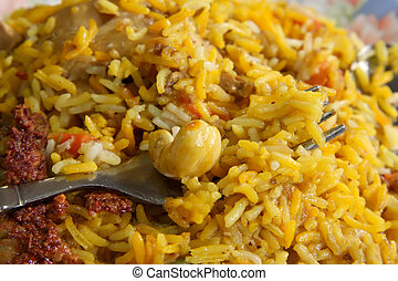 Indian rice - Spicy dish of indian rice traditional cuisine