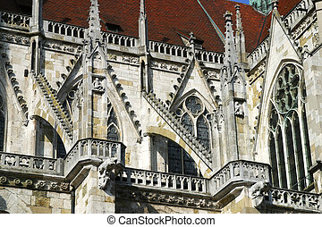 Regensburg Cathedral - the Regensburg Cathedral, dedicated...