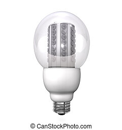 LED Lamp - 3d Illustration of LED-Lamp White background