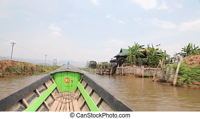 Boat on Inle lake , Myanmar
