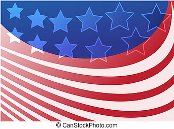Stars and stripes - Stars and strips abstract graphic design...
