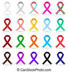 Awareness Ribbons - A Collection Of Awareness Ribbons Pastel...