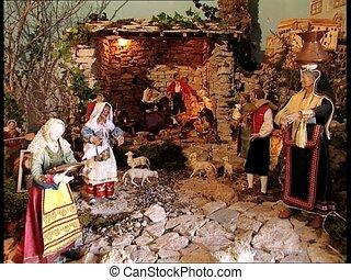 CHRISTMAS CRIB nativity scene zoom