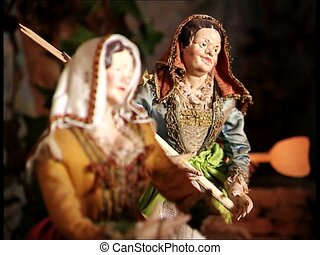 CHRISTMAS CRIB female santons - A Christmas crib nativity...