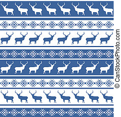 Christmas seamless pattern with deer. EPS 8 - Ethnic nordic...