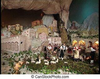CHRISTMAS CRIB with santons MS pan