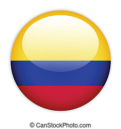 Columbia flag button on white