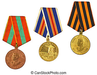 three medals for bravery