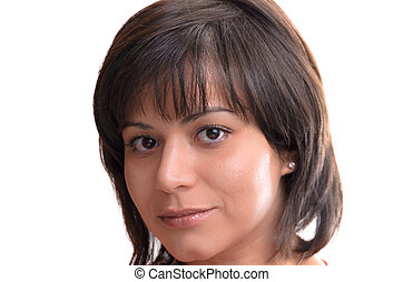 Gentle woman with beautiful smile