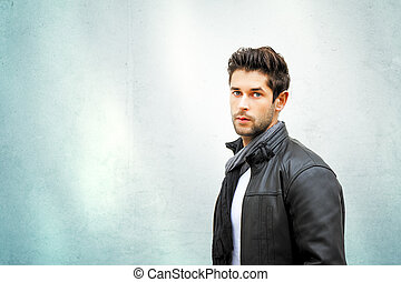 young man - An image of a handsome young man