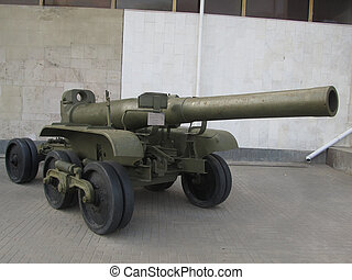 Howitzer - Big Soviet howitzer of the Second World War