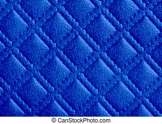 detail of  diamond pattern texture in blue color