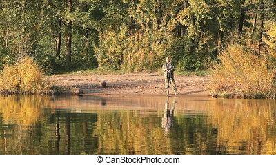 fishing on the autumn