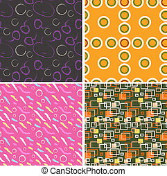 Set of four decorative patterns