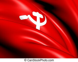 South Asian Communist Flag Close Up