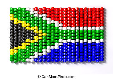 South African Zulu Bead Flag - A traditional zulu beaded...