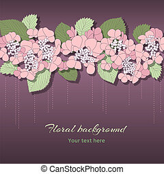 Delicate floral background with pink flowers